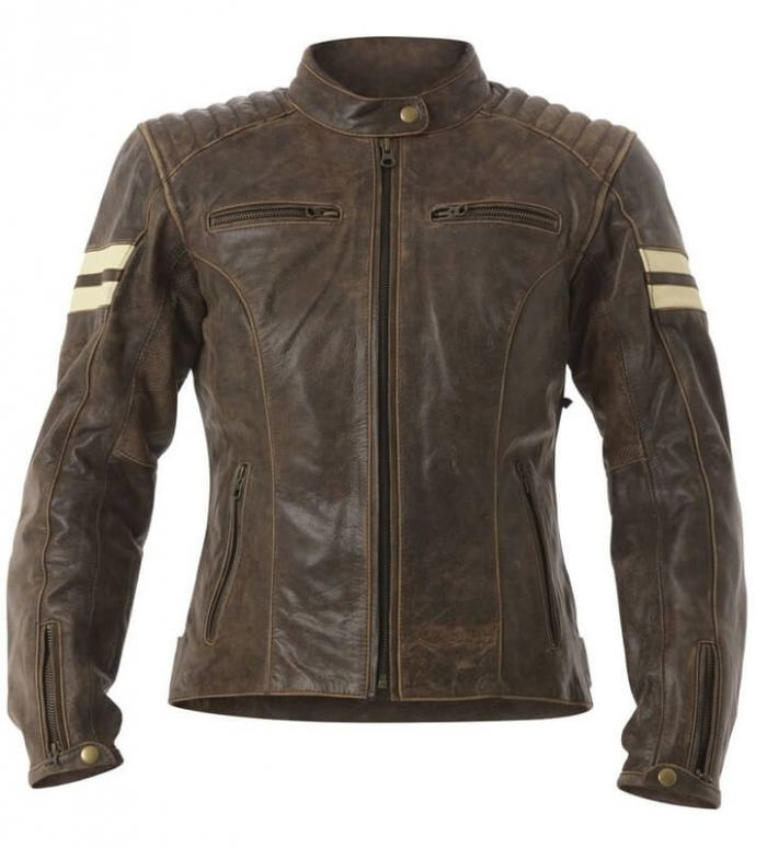 RST Ladies Roadster Leather Jacket Brown Fade