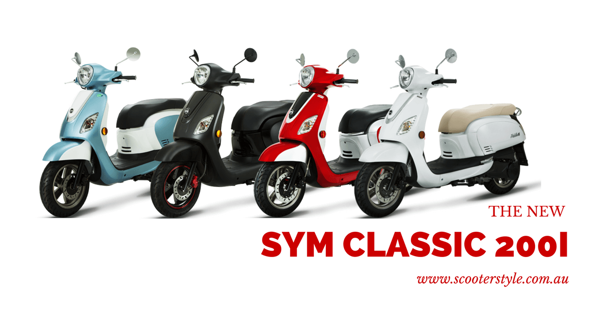 SYM Classic 200i – Scooter Style & Noosa Motorcycles