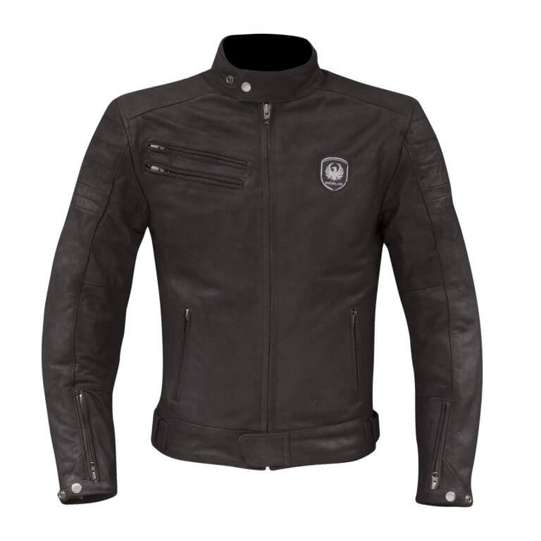 Merlin Alton Leather Jacket Black