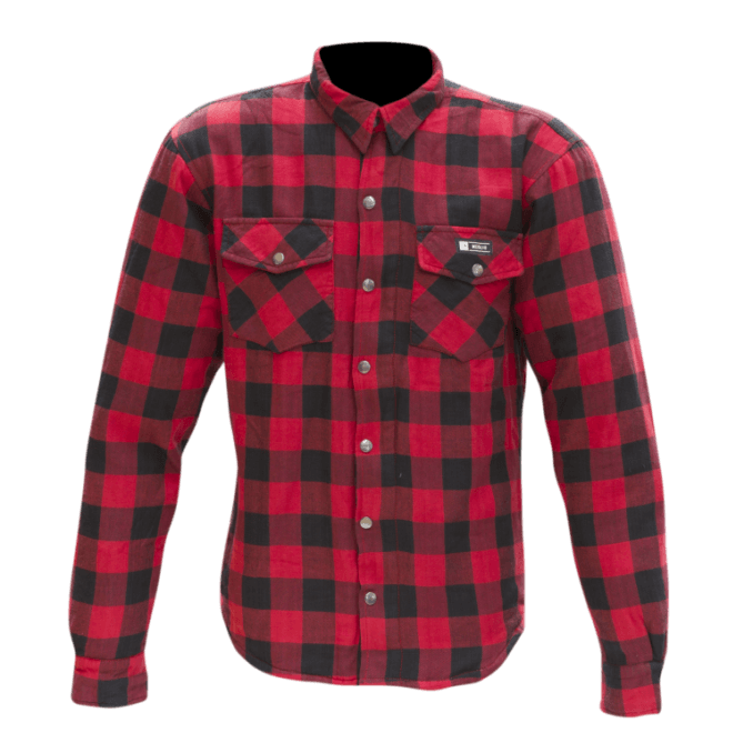 Merlin Axe Checkered Shirt Red