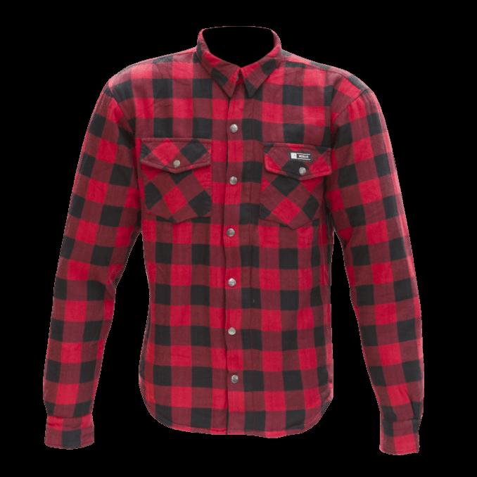 Merlin Axe Checkered Shirt Red