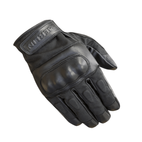 Merlin Ranton Waxed Cotton Gloves Black