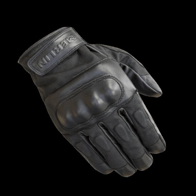 Merlin Ranton Waxed Cotton Gloves Black