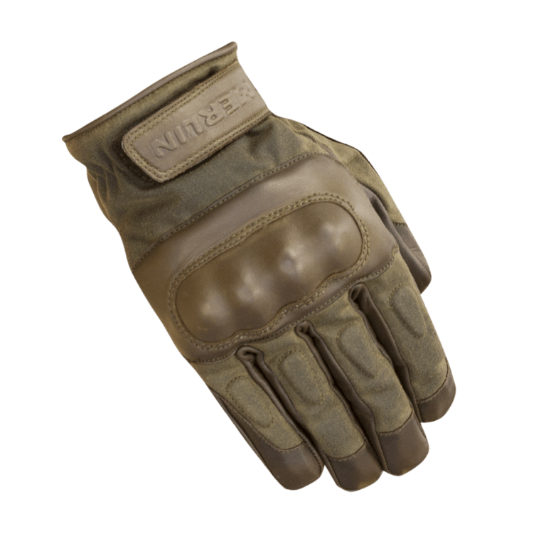 Merlin Ranton Waxed Cotton Gloves Brown