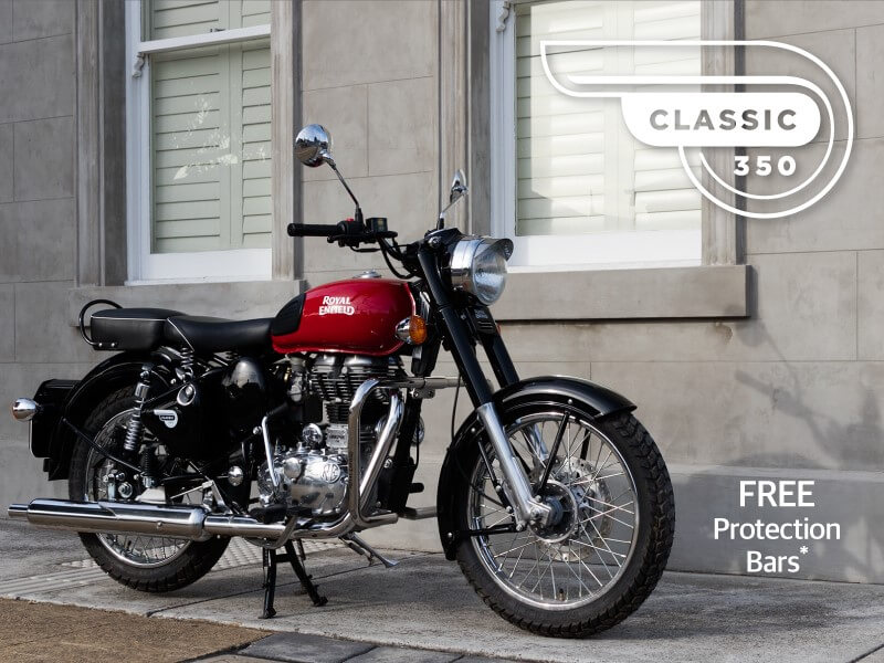Royal Enfield Classic 350 with free Protection Bars
