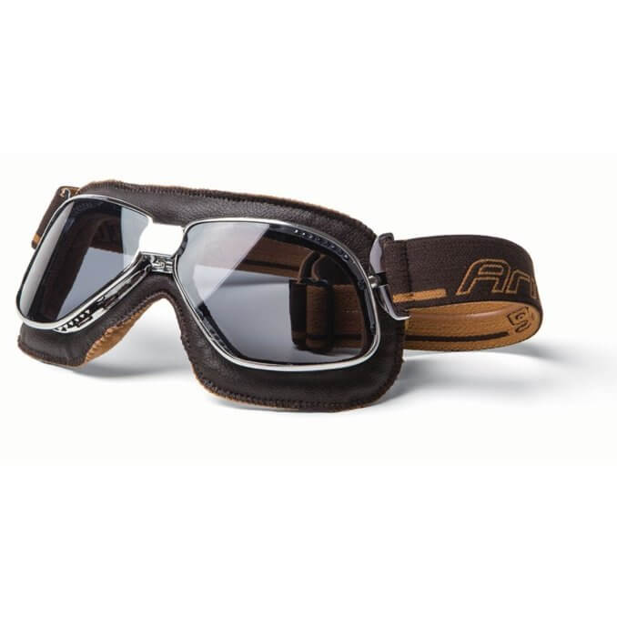 Ariete Vintage Goggles Brown Leather