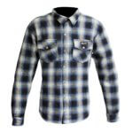 Merlin Axe Checkered Shirt Blue