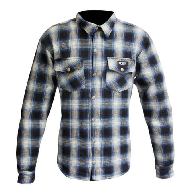 Merlin Axe Checkered Shirt Blue
