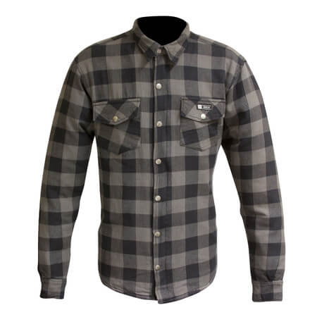 Merlin Axe Checkered Shirt Grey