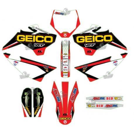 Graphics Kit Geico MXDN YCF F125