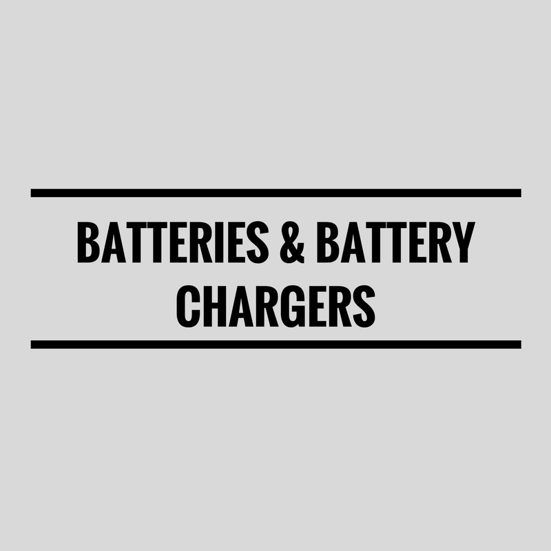 Batteries and Battery Chargers