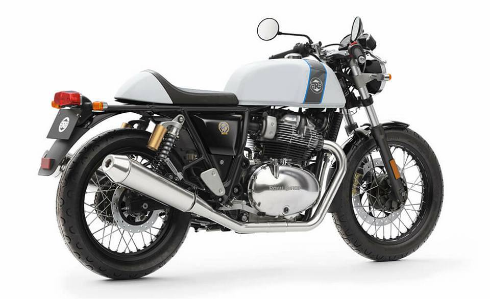 Royal Enfield Continental GT 650cc White Grey