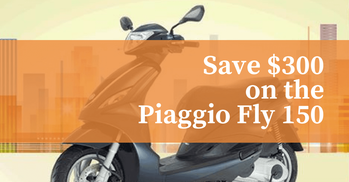 Save $300 on the Piaggio Fly 150 1200x628