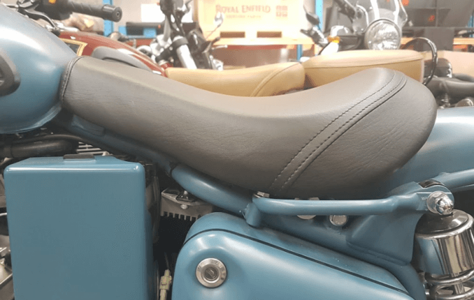 Royal Enfield Low Single Seat Side View