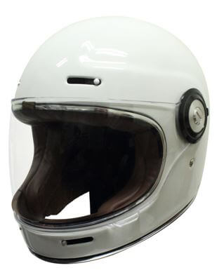 Scorpion Vintage Helmet Gloss White