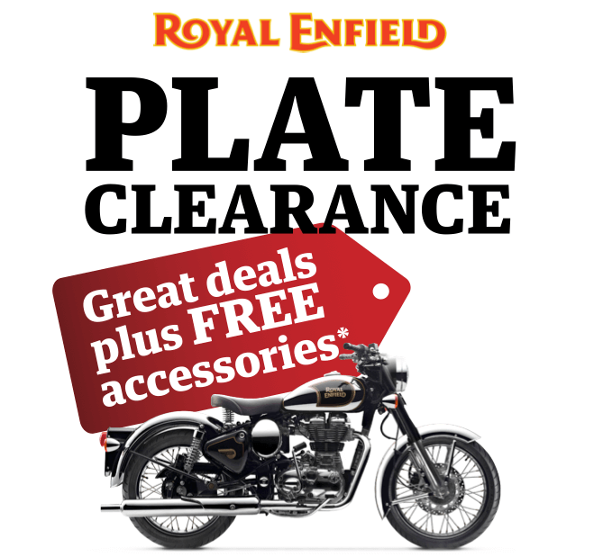 Royal Enfield 2017 Plate Clearance