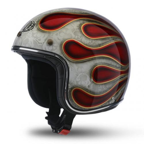 Airoh Riot Flame Red Glitter Helmet