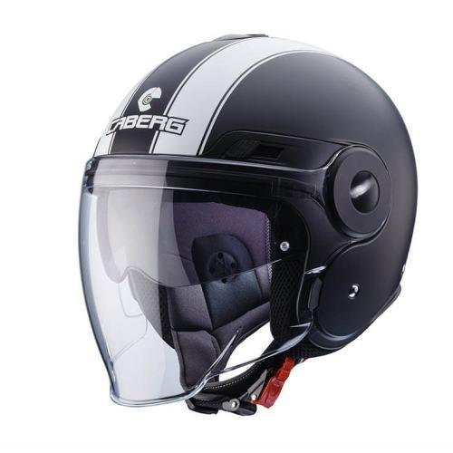 CABERG Uptown Legend Matt Black White Helmet