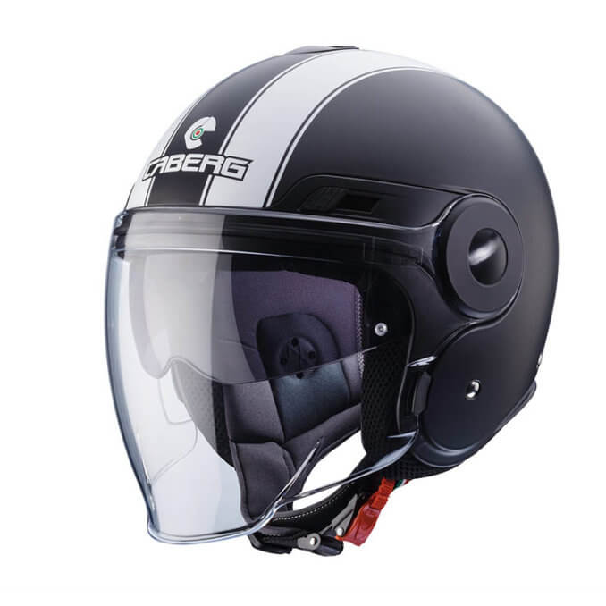 CABERG Uptown Legend Matt Black White Helmet