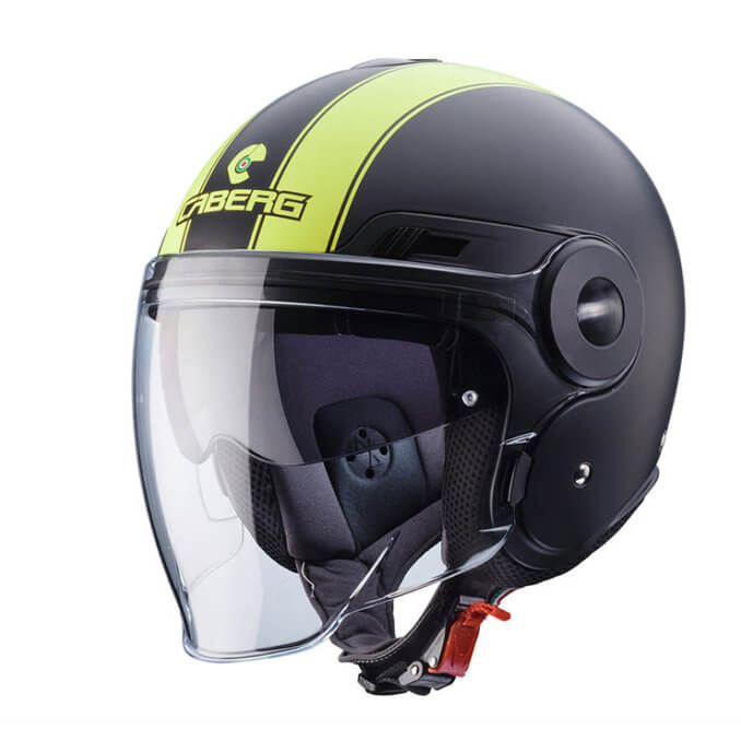 CABERG Uptown Legend Matt Black Yellow Fluo Helmet