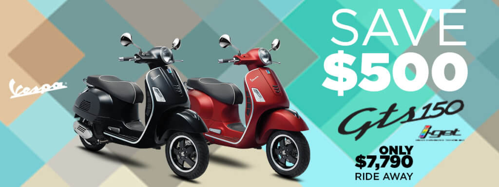 Save $500 on the Vespa GTS 150 i-GET