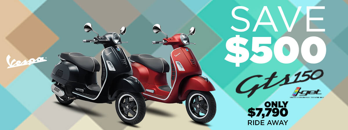 Save $500 on the Vespa GTS 150 i-GET