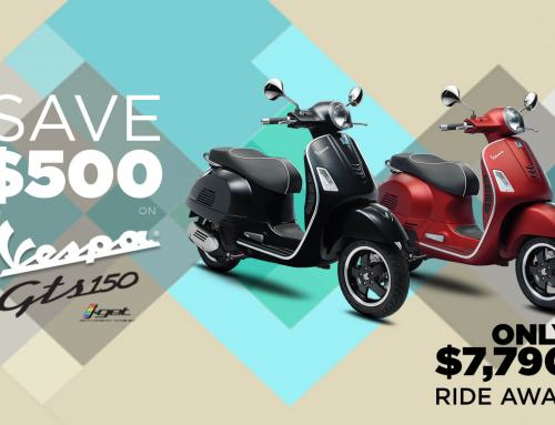 Vespa GTS 150 Promotion Extended