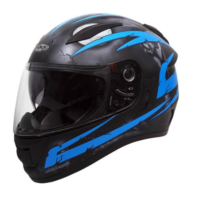 RXT Evo Crypt Helmet Black Blue
