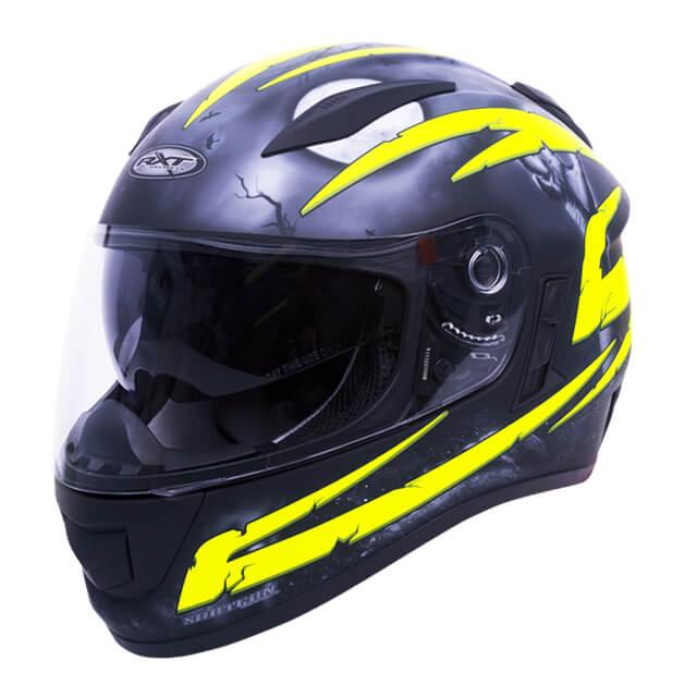 RXT Evo Crypt Helmet Black Fluro Yellow