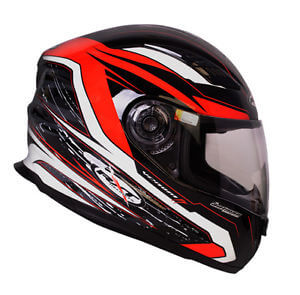RXT A503 Venom Fibreglass Road Helmet Black/Red