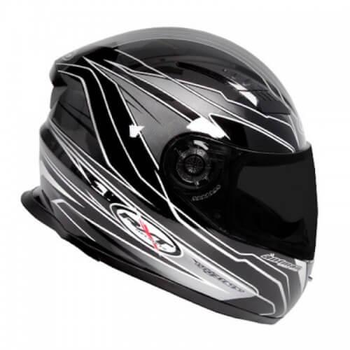 RXT A503 Venom Fibreglass Road Helmet Black/Silver