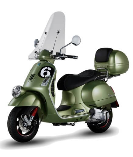 vespa gts 300 sei giorni windscreen scooter style. Black Bedroom Furniture Sets. Home Design Ideas