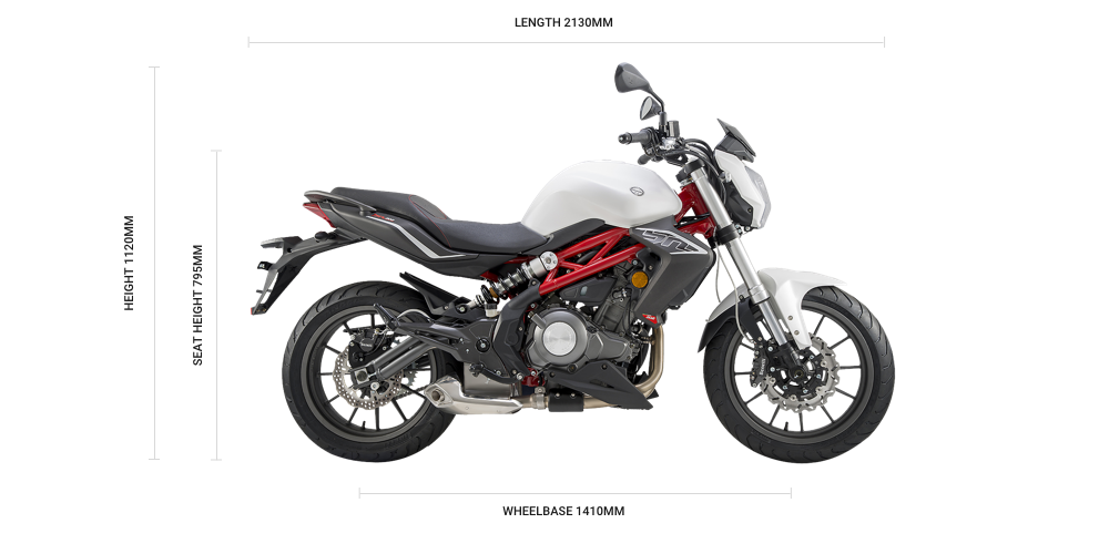 Benelli BN 302 ABS Dimensions