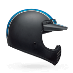 BELL Moto-3 Helmet Independent Stripes Silver Black Blue