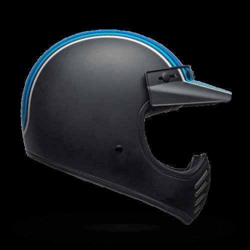 BELL Moto-3 Helmet Independent Stripes Silver Black Blue