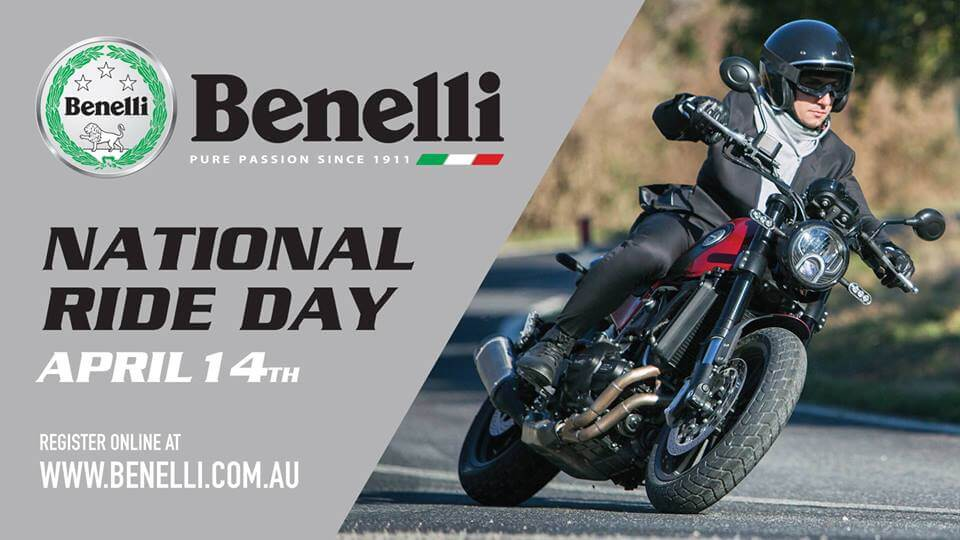 Benelli National Test Ride Day on 14 April 2018