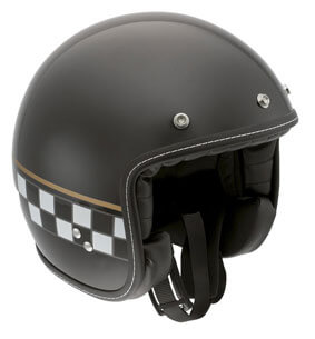 AGV RP60 Open Face Cafe Racer Black Helmet