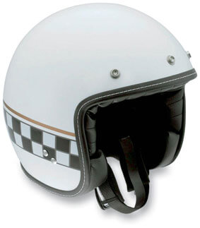AGV RP60 Open Face Cafe Racer White Helmet