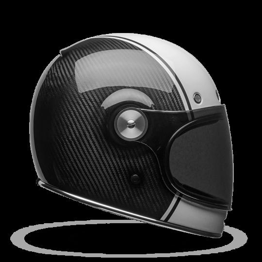 BELL Bullitt Helmet Carbon Pierce Black White