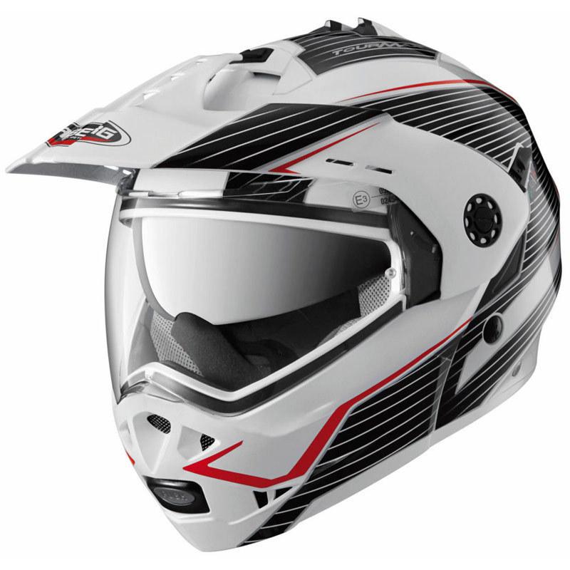 CABERG Tourmax Sonic White/Black Helmet