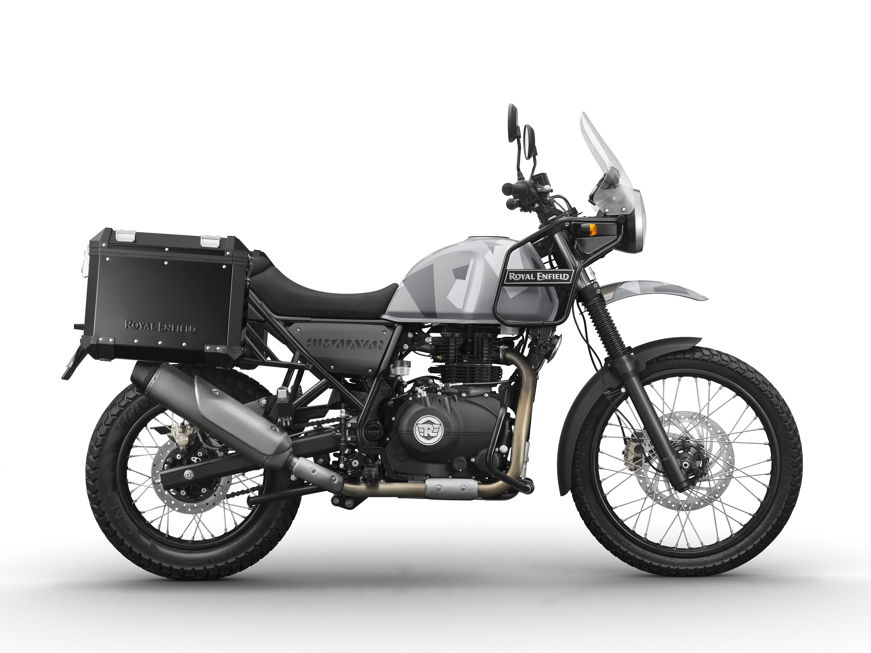 Royal Enfield Himalayan Sleet with Luggage
