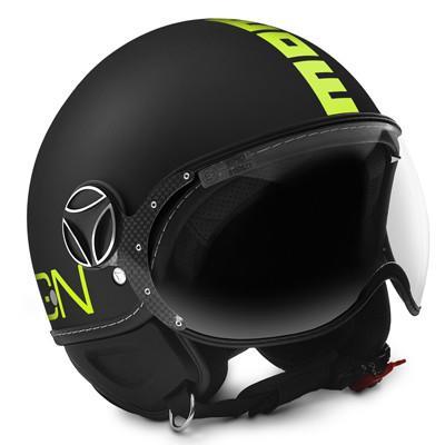 MOMO FGTR Fluo Matte Black Frost Yellow Helmet