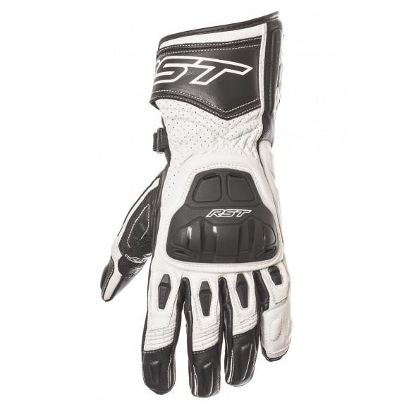 RST R-16 Sport Leather Glove Black/White