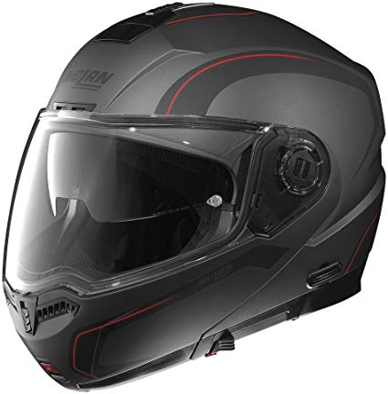 Nolan N-104 Action Flat Black Grey Red Helmet