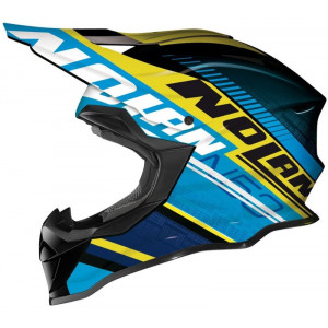 Nolan N-53 Flaxy Blue Yellow Helmet