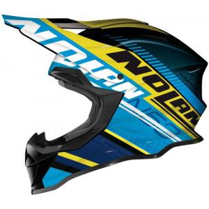 Nolan N-53 Flaxy Blue Yellow Helmet
