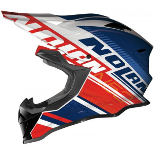 Nolan N-53 Flaxy Red Blue White Helmet