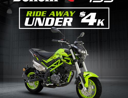 Rideaway on a Benelli TNT 135 for just $3,990